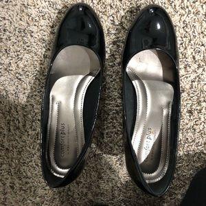 Comfort Plus Black Patent Heels - GENTLY WORN